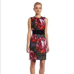 TRINA TURK The Mirren Rose Print Silk Dress sz 0